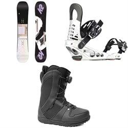 K2 Lime Lite Snowboard - Women's + K2 Meridian Snowboard Bindings - Women's + Ride Sage Snowboard Boots - Women's