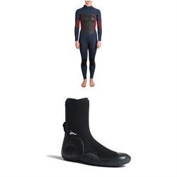 Imperial Motion 4​/3 Luxxe Deluxe Back Zip Wetsuit - Women's ​+ Imperial Motion 5mm Lux Round Toe Wetsuit Booties
