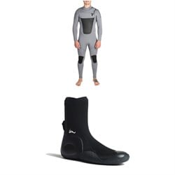 Imperial Motion 4​/3 Lux Deluxe Chest Zip Wetsuit ​+ Imperial Motion 5mm Lux Round Toe Wetsuit Booties