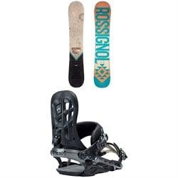 Rossignol Templar Snowboard 2019 + Rome 390 Boss Snowboard Bindings 2018
