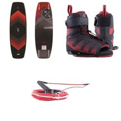 Hyperlite Murray Package: Murray Wakeboard w​/ Session Bindings ​+ Murray Pro Wakeboard Handle & Flat Line