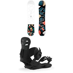 Salomon Lotus Snowboard - Women's + Union Rosa Snowboard Bindings - Women's 2020