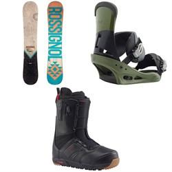Rossignol Templar Snowboard  + Burton Custom Snowboard Bindings  + Burton Ruler Snowboard Boots 2018