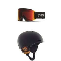 Smith Squad XL Goggles ​+ Anon Raider Helmet