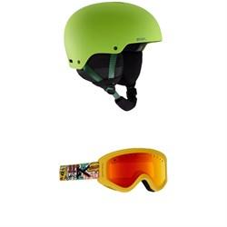 Anon Rime 3 Helmet - Kids' + Anon Tracker Goggles - Big Kids'