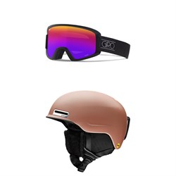 Giro Dylan Goggles - Women's ​+ Smith Allure MIPS Helmet - Women's