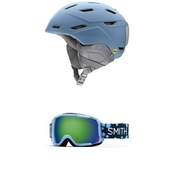 Smith Prospect Jr. MIPS Helmet - Kids' ​+ Smith Grom Goggles - Big Kids'