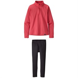 Patagonia Capilene®  Heavyweight Zip-Neck Top - Girls' ​+ Patagonia Capilene Pants - Kids'