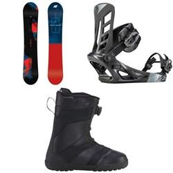 K2 Raygun Snowboard + K2 Indy Snowboard Bindings + K2 Raider Snowboard Boots
