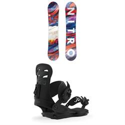 Nitro Lectra Snowboard - Women's + Union Rosa Snowboard Bindings - Women's