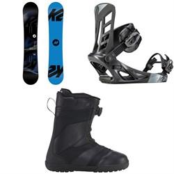 K2 Standard Snowboard + K2 Indy Snowboard Bindings + K2 Raider Snowboard Boots