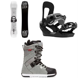 Bataleon Disaster Snowboard ​+ Switchback Destroyer Snowboard Bindings ​+ DC Mutiny Snowboard Boots