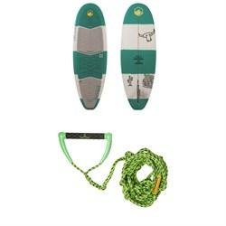 Liquid Force El Guapo Wakesurf Board + Proline x evo LGS Surf Handle & Line
