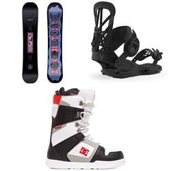 CAPiTA Horrorscope Snowboard + Union Flite Pro Snowboard Bindings + DC Phase Snowboard Boots 2020