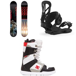 CAPiTA Outerspace Living Snowboard + Union Flite Pro Snowboard Bindings + DC Phase Snowboard Boots 2020