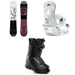 Rome Royal Snowboard - Women's + Rome Shift Snowboard Bindings - Women's + thirtytwo STW Boa Snowboard Boots - Women's 2020