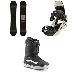 Arbor Formula Rocker Snowboard + Arbor Spruce Snowboard Bindings + Vans Aura OG Snowboard Boots 2020