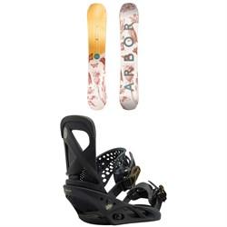 Arbor Swoon Rocker Snowboard - Women's  + Burton Lexa Snowboard Bindings - Women's 2018