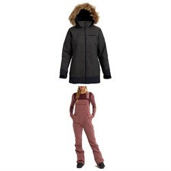 Burton Lelah Jacket ​+ Burton Avalon Softshell Bibs - Women's