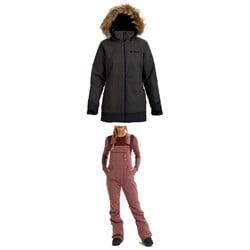 Burton Lelah Jacket + Burton Avalon Softshell Bibs - Women's