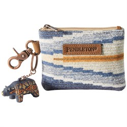 Pendleton ID Pouch With Bear Keychain - Women's