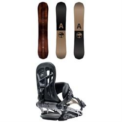 Arbor Element Snowboard + Rome 390 Boss Snowboard Bindings