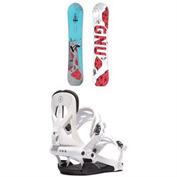GNU Money C2E Snowboard ​+ Rome Arsenal Snowboard Bindings