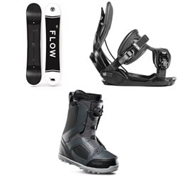 Flow Merc Snowboard 2018 ​+ Alpha Snowboard Bindings  ​+ thirtytwo STW Boa Snowboard Boots