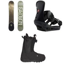 Salomon Sight X Snowboard  + Burton Freestyle Snowboard Bindings  + Moto Boa R Snowboard Boots 2018