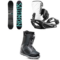 Salomon Craft X Snowboard + Salomon Rhythm Snowboard Bindings + thirtytwo STW Boa Snowboard Boots