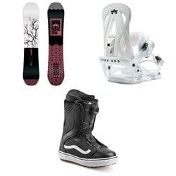 Rome Royal Snowboard - Women's + Rome Shift Snowboard Bindings - Women's + Vans Encore OG Snowboard Boots - Women's 2020