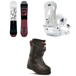 Rome Royal Snowboard - Women's ​+ Rome Shift Snowboard Bindings - Women's ​+ thirtytwo Zephyr Boa Snowboard Boots - Women's 2020