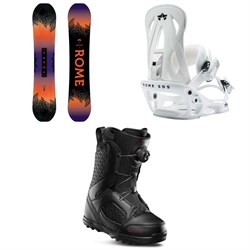 Rome Heist Snowboard - Women's ​+ Shift Snowboard Bindings - Women's ​+ thirtytwo STW Boa Snowboard Boots - Women's 2020