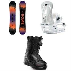 Rome Heist Snowboard - Women's + Shift Snowboard Bindings - Women's + thirtytwo STW Boa Snowboard Boots - Women's 2020
