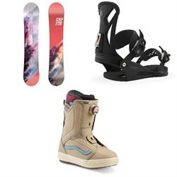 CAPiTA Paradise Snowboard - Women's + Union Juliet Snowboard Bindings - Women's + Vans Encore OG Snowboard Boots - Women's 2020
