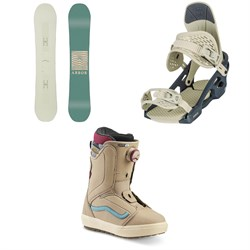 Arbor Poparazzi Rocker Snowboard + Arbor Acacia Snowboard Bindings + Vans Encore OG Snowboard Boots - Women's 2020