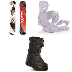 CAPiTA Space Metal Fantasy Snowboard - Women's ​+ Union Rosa Snowboard Bindings - Women's ​+ thirtytwo Shifty Boa Snowboard Boots - Women's 2020