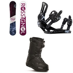 Rossignol Gala Snowboard - Women's + Gala Snowboard Bindings - Women's + thirtytwo Shifty Boa Snowboard Boots - Women's 2020