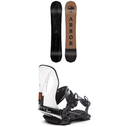 Arbor Element Black Rocker Snowboard ​+ Arbor Cypress LTD Snowboard Bindings 2020