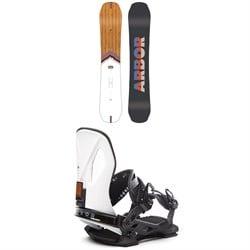 Arbor Shiloh Rocker Snowboard + Arbor Cypress LTD Snowboard Bindings 2020