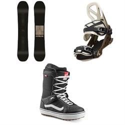 Arbor Formula Camber Snowboard + Arbor Hemlock Snowboard Bindings + Vans Hi Standard OG Snowboard Boots 2020