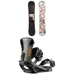 Salomon Wonder X Snowboard + Vendetta Snowboard Bindings - Women's