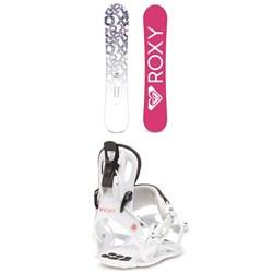 Roxy Glow Snowboard + Roxy Rock-It Dash Snowboard Bindings - Women's 2020
