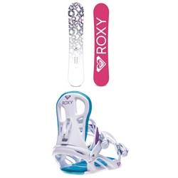 Roxy Glow Snowboard - Women's + Roxy Classic Snowboard Bindings - Women's 2020