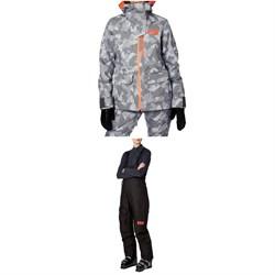 Helly Hansen Powderqueen 2.0 Jacket + Powderqueen Bib Pant - Women's