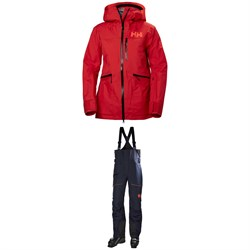 Helly Hansen Kvitegga Shell Jacket + Helly Hansen Kvitegga Bib Shell Pants - Women's