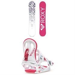 Roxy Glow Snowboard - Women's + Roxy Glow Snowboard Bindings - Women's 2020