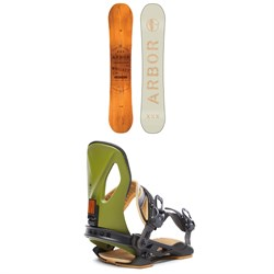 Arbor Whiskey Snowboard ​+ Arbor Cypress LTD Snowboard Bindings 2020