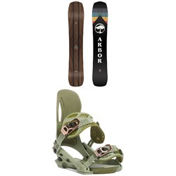 Arbor A-Frame Snowboard ​+ Arbor Cypress Snowboard Bindings