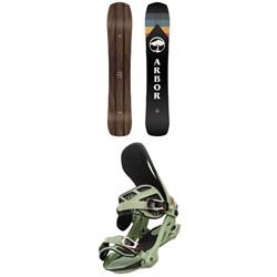 Arbor A-Frame Snowboard + Arbor Cypress Snowboard Bindings